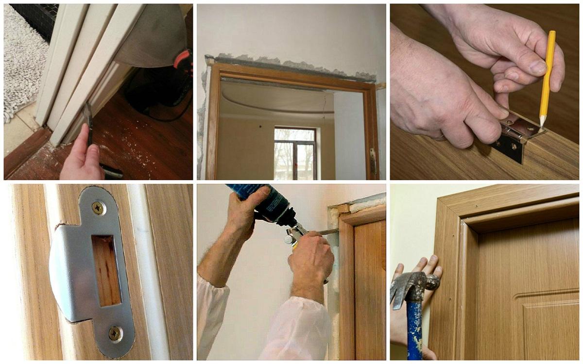 Установка межкомнатной двери пошаговая инструкция