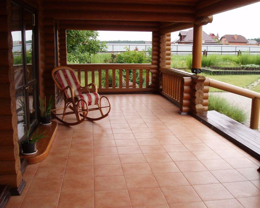 Pavimenti nella veranda aperta come coprire il pavimento in veranda
